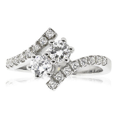 0.75Ct Round Cut Diamond Forever Us Engagement Ring 14K White Gold H SI2