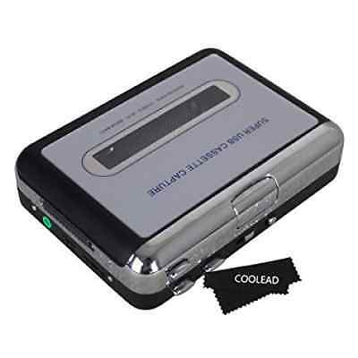 COOLEAD- Portable USB Cassette Digital Audio Music Player and Tape-to-MP3 Conver