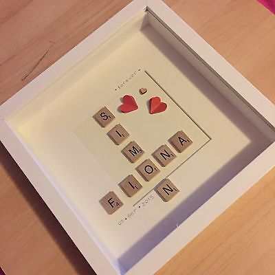 Personalised Scrabble Art Frame - Ideal Wedding/Anniversary/Engagement Gift