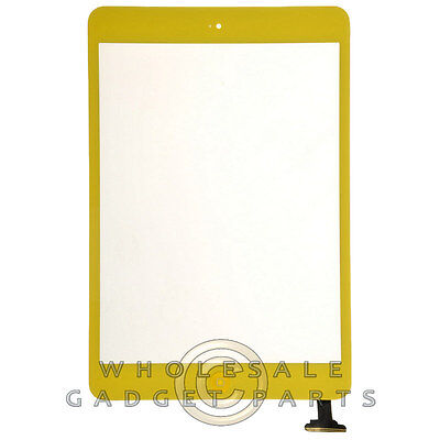 Digitizer for Apple iPad Mini Yellow Front Glass Touch Screen Window Panel Part
