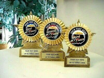 New Chili Cook Off Cook-Off Award Trophy Set Trophies 1St-3Rd Mrf11C/b/a