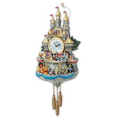 Disney 43 Character Timeless Magic Cuckoo Wall Clock Musical Lighted NEew