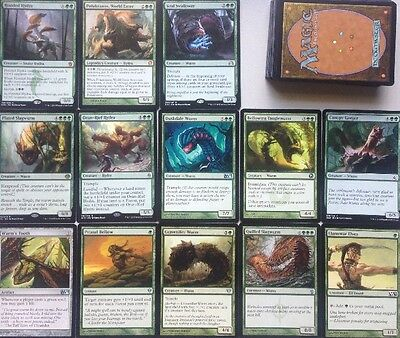 Instant WURM HYDRA DECK! 2 MYTHICS Ready To Play 60 Cards Mtg BIG creature Green