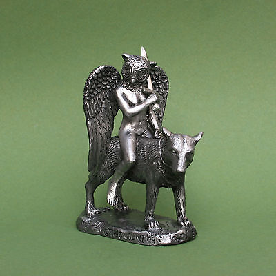 Pewter Andras Statue - Goetia Demon Great Marquis of Hell Dictionnaire Infernal