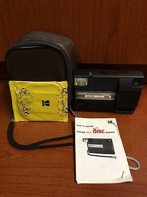 Kodak Tele Disc Camera With Case And Film NICE