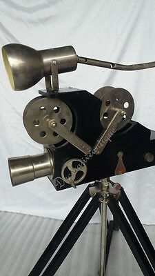 Vintage Style Hollywood Decorative Lamp Projector w Wooden Tripod Home Decor