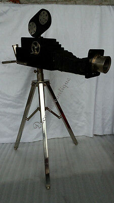 Vintage Nautical Reproduction Projector on Metal tripod stand Decorative item