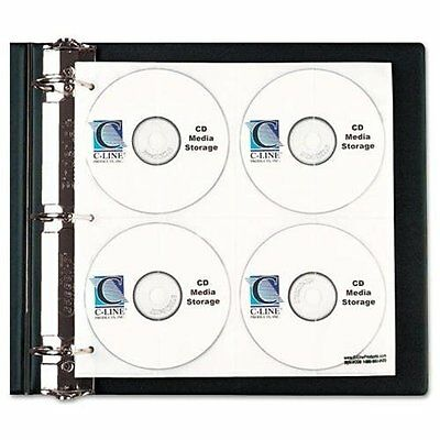 C-line Cd/dvd Ring Binder Kit - 80 Cd/dvd Capacity - Polypropylene - 1each -