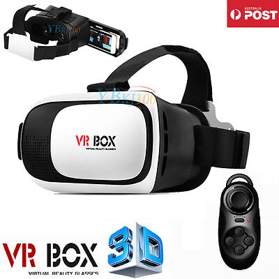 3D VR Headset VR BOX Virtual Reality Glasses Bluetooth for Samsung Iphone 5 6s