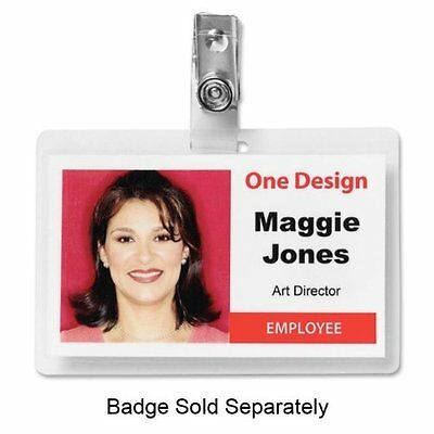 Business Source Id Card Clip With Strap - 100 / Box - Silver (BSN20858)