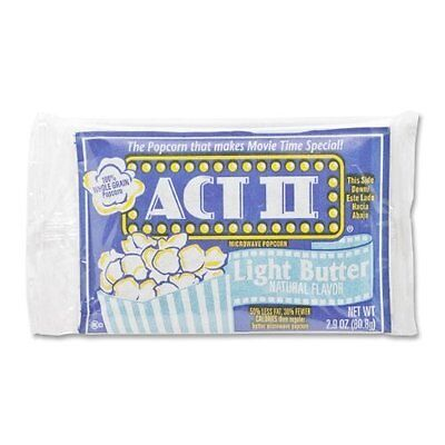 ACT II Microwave Popcorn - Microwavable - Light Butter - 36 / Carton - Marjack