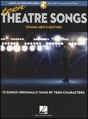 Teen Theatre Songs Young Men's Edition Sheet Music Book and Audio Vocal Voice