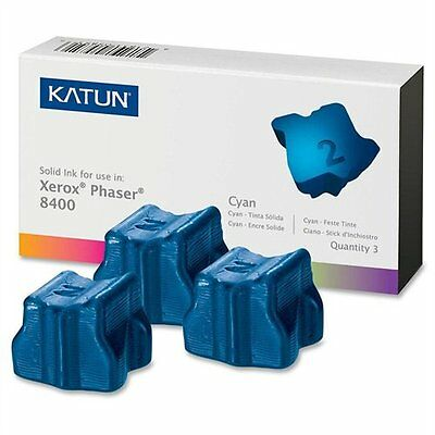 Katun 38704 [108r00605] Xerox Compatible Phaser 8400 Solid Ink Sticks - Cyan -