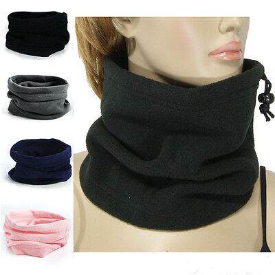 3in1 Sports Thermal Fleece Scarf Snood Neck Winter Warmer Face Mask Beanie Hat