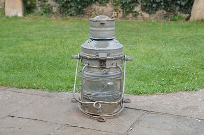 Vintage ships lamp old ship lamp DAVEY nautical lamp - FREE DELIVERY