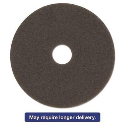 "3m 08443 Low-speed High Productivity Floor Pad 7100, 15"", Brown, 5/carton"