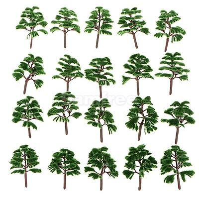20pcs Dark Green Model Metasequoia Trees Train Railway Layout Z Scale Tree