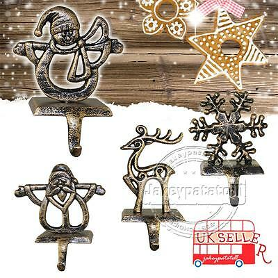 Christmas Stocking Hanger Weighted Hook Mantle Piece Xmas Decoration Ornament UK