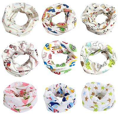 New Toddler Cotton Round Neck Scarf Snood Baby Kids Boy Girl Warmer Scarf Wrap