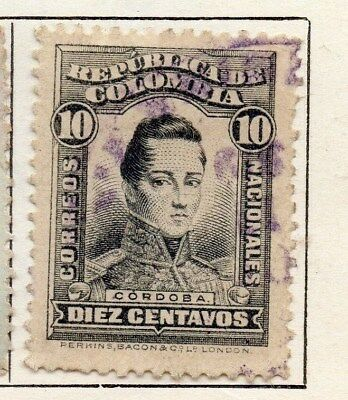 Colombia 1917 Early Issue Fine Used 10c. 097660