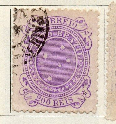 Brazil 1890 Early Issue Fine Used 200r. 097250