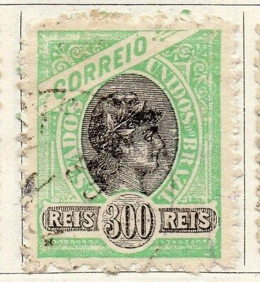 Brazil 1894 Early Issue Fine Used 300r. 097261