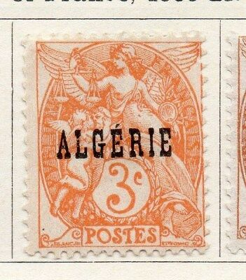 Algeria 1924-26 Early Issue Fine Mint Hinged 3c. Optd 097290