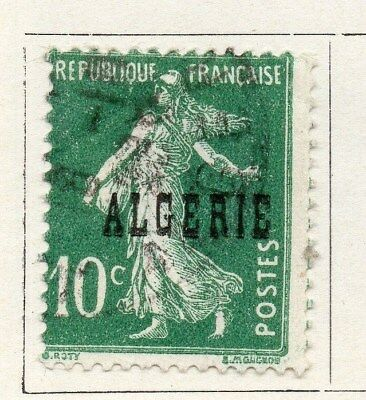Algeria 1924-26 Early Issue Fine Used 10c. Optd 097295