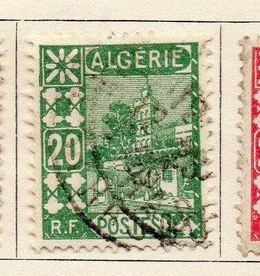 Algeria 1926-27 Early Issue Fine Used 20c. 097316