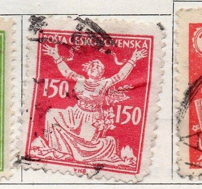 Czechoslovakia 1922 Early Issue Fine Used 150h. 097446