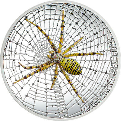 1 Unze Silber PP High Relief Wasp Spider Magnificent Life Cook Islands 2016