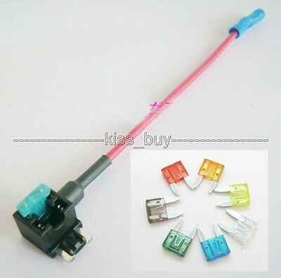 12V Car Auto Add Circuit ATM TAP Low Profile Blade Fuse Holder 7.5A 10A 15A 20A
