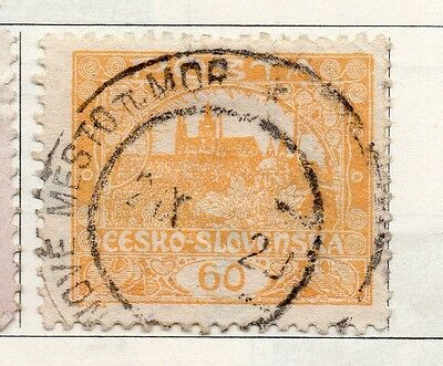 Czechoslovakia 1919 Early Issue Fine Used 60h. 097545