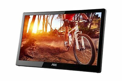 "Aoc E1659fwu 16"" Led Lcd Monitor - 16:9 - 8 Ms - Adjustable Display Angle - 1366"