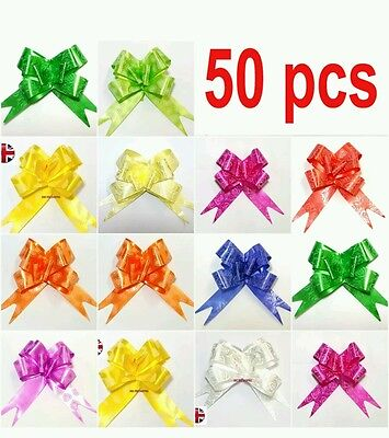 50×30MM large ribbon flowers assorted mix colours  pull  bowS special xmas shop.