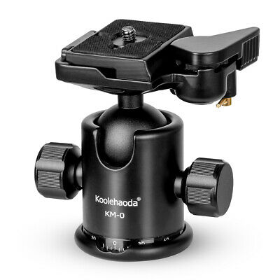 Pro KM-0 Camera Tripod head Ballhead with quick release plate for DSLR camera