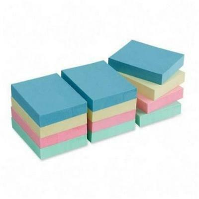 Sparco Spr-19852 Premium Pastel Adhesive Sticky Notes Pad - Repositionable,