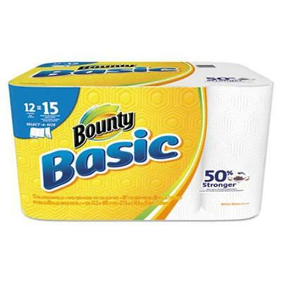 Bounty Basic Select-a-size Paper Towels - 1 Ply - 89 Sheets/roll - White -