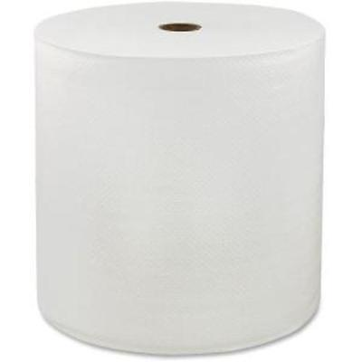 "Locor Hardwound Roll Towels - 1 Ply - 7"" X 850 Ft - White - Embossed, Absorbent,"