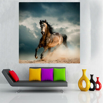 Canvas Painting Oil Print Landscape Horse Wall Art Picture Home Decor 50cm