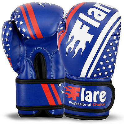 Kids Boxing Gloves MMA Training Mitts Punch Bag Sparring Unisex Size 4oz - 6oz