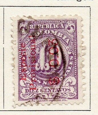 Colombia 1918 Early Issue Fine Used 10c. Optd 097617