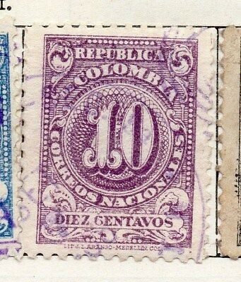 Colombia 1904-05 Early Issue Fine Used 10c. 097648