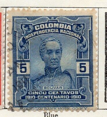 Colombia 1910 Early Issue Fine Used 5c. 097653