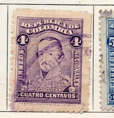 Colombia 1917 Early Issue Fine Used 4c. 097658