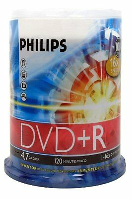 Philips Dr4s6b00f/17 4.7gb 16x Dvd+rs [100-ct Cake Box Spindle]