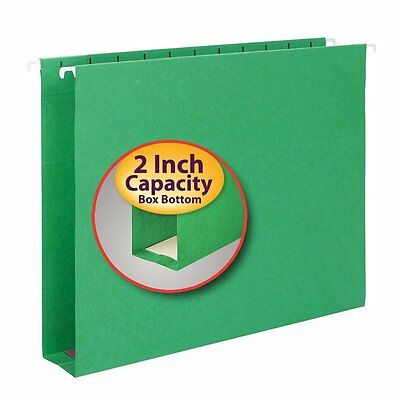 "Smead Hanging Box Bottom File Folder With Tab 64267 - 2"" Folder Capacity -"