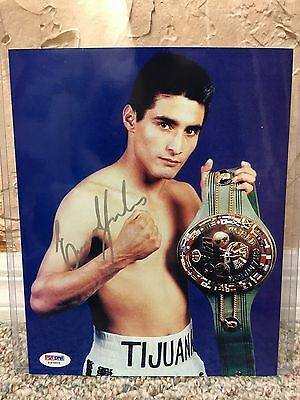"Erik ""el Terrible"" Morales Signed Auto 8 X 10 Photo Mexican Champ Psa Z37503 107"