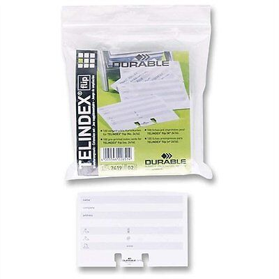 Durable Rotary File Refill Cards (241902)