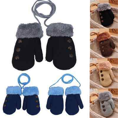 Cute Baby Kids Girls Boys Child Gloves Winter Warm Stretchy Knitted Mittens Gift